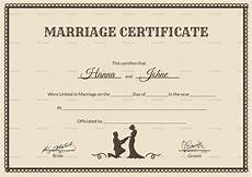 Printable Marriage Certificate Vintage Marriage Certificate Design Template In Psd Word