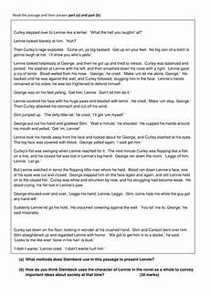 Mice And Men Essay Questions Of Mice And Men Exam Questions By Cpoeo Teaching