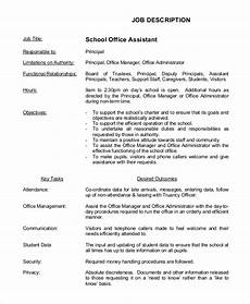 Office Job Description Free 8 Sample Office Assistant Job Description Templates