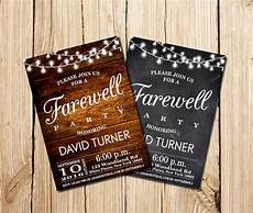 Farewell Invitation Samples Farewell Party Invitation Farewell Invitation Rustic
