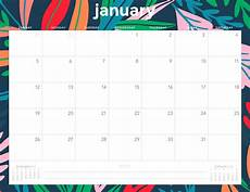 Printable Monthly Calendar January 2020 Pick 2020 January Through December Monthly Calender