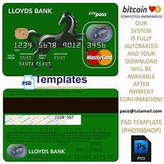 Credit Card Sample Fully Editable Lloyds Credit Card Psd Template