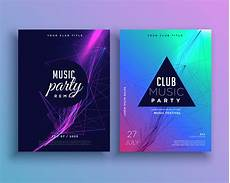 Party Poster Template Music Party Invitation Poster Template Set Download Free