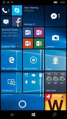Windows 10 Home Screen Microsoft Windows 10 Mobile Review Amp Rating Pcmag Com