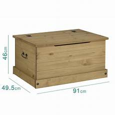 corona mexican solid pine blanket box with side handles