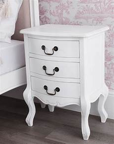 juliette shabby chic antique white bedside table