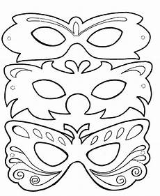 Malvorlage Karneval Maske Fasching Masken Ausmalen Children Print Carnival