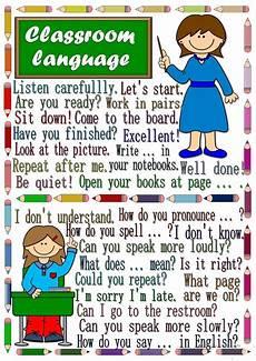 English Language Charts For Classroom Classroom Language Poster Worksheet Free Esl Printable