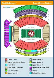 Bryant Denny Stadium Seating Chart With Seat Numbers Row Numbers