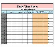 Daily Time Sheets Template Free 17 Sample Daily Timesheet Templates In Google Docs