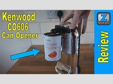 Kenwood CO606 Electric Can Opener Review and Demo   YouTube