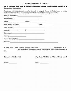Medical Certificate For College Admission Physical Fitness Certificate Form For Engineering