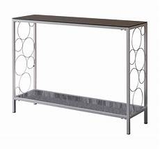 Silver Sofa Tables Living Room Png Image by Ewing Silver Metal Black Glass Console Table 2kfurniture