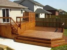 Two Level Deck Designs 34 Rustic Deck Designs Home Designs Design Trends