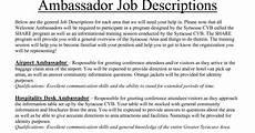 Brand Ambassador Resume Brand Ambassador Resume Sample Sample Resumes