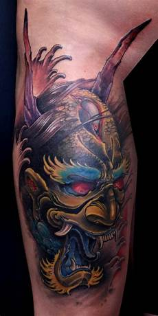 Demon Mask Designs Oni Mask Tattoos Designs Ideas And Meaning Tattoos For You