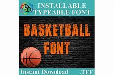 Basketball Font Basketball Svg Basketball Font Tff Alphabet