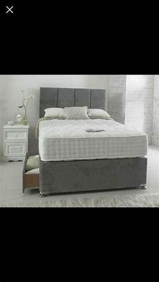 brand new divan bed with headboard orthopaedic mattress