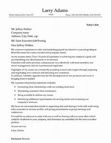 Cover Letters For Sales Sales Executive Cover Letter Sample