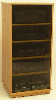 stereo cabinet with glass doors 27 quot 73 quot high oak maple