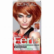 Feria Hair Colour Chart Feria Hair Color 74 Deep Copper Packaging May Vary Ebay