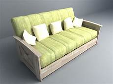 Sofa Cushions 3d Image by Wooden Sofa With Cushion 3d Model 007