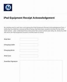 equipment receipt form template equipment receipt acknowledgement form template jotform