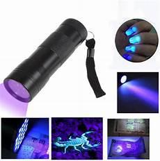 Led Inspection Light Uv Ultra Violet 12 Led Flashlight Blacklight Light 395 Nm