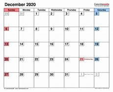 December 2020 Calendar With Holidays December 2020 Calendar Templates For Word Excel And Pdf