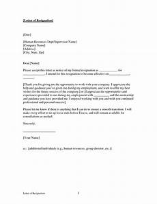 Letter Of Resognation Free Printable Letter Of Resignation Form Generic