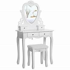 songmics dressing table set with stool and shape