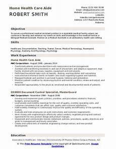Home Health Care Resume Home Health Care Aide Resume Samples Qwikresume