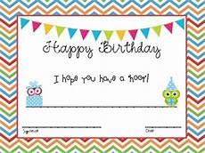 Free Printable Birthday Certificates Birthday Certificates Owl Themed By Mathteacherscribbles Tpt