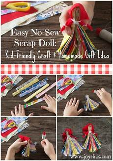 scrap doll easy kid friendly craft and gift idea