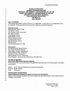 Minutes For A Meeting Meeting Minutes Dentistry Florida Board Of