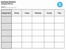 Staff Schedule Template Weekly Employee Schedule Template Free Instant Downloads