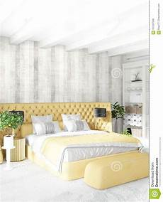 Sofa Bed For Bedroom 3d Image by White Bedroom Or Livingroom Minimal Style Interior Design