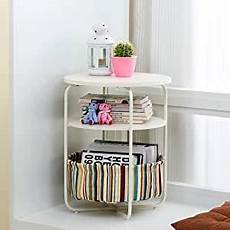 home side tables 3 tier nordic solid