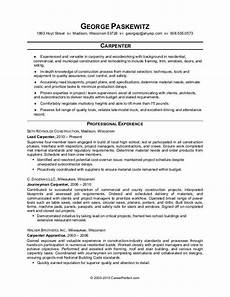 Carpentry Resume Sample Carpenter Resume Sample Monster Com