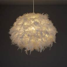 Feather Light Furniture Colours Melito White Feather Ball Light Shade D 400mm