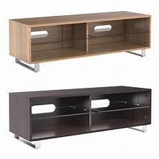 tv cabinet stand unit glass shelves for 32 60 inch flat