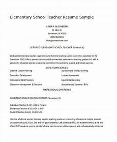 Resume Samples For Teacher Teacher Resume Examples 26 Free Word Pdf Documents