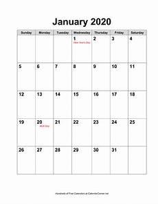 Calendar 2020 Ms Word Free 2020 Calendar With Holidays