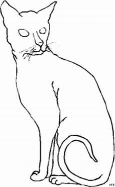 Malvorlage Sitzende Katze Sitzende Schmale Katze Ausmalbild Malvorlage Tiere
