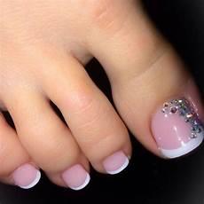 French Tip Toe Designs Natural Nails White Tip Toe Nail Art Toe Nails Nail