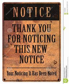 Funny Memos Notice Sign Memo Announcement Grunge Funny Stock Photo