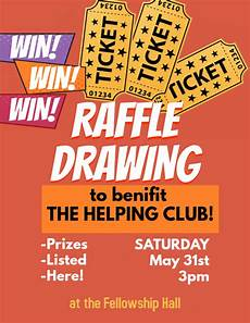 Raffle Ticket Poster Ideas Raffle Ticket Benefit Drawing Event Flyer Template