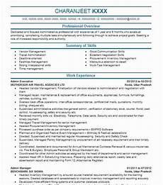 Sample Resume Of Admin Executive Admin Executive Resume Sample Executive Resumes Livecareer