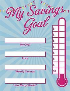 Savings Goal Chart Kids Savings Chart Help Kids Save Money Description From