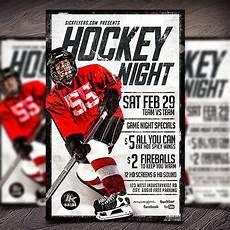 Hockey Flyer Template Photoshop Flyers Psd Flyer Templates Flyer Designs